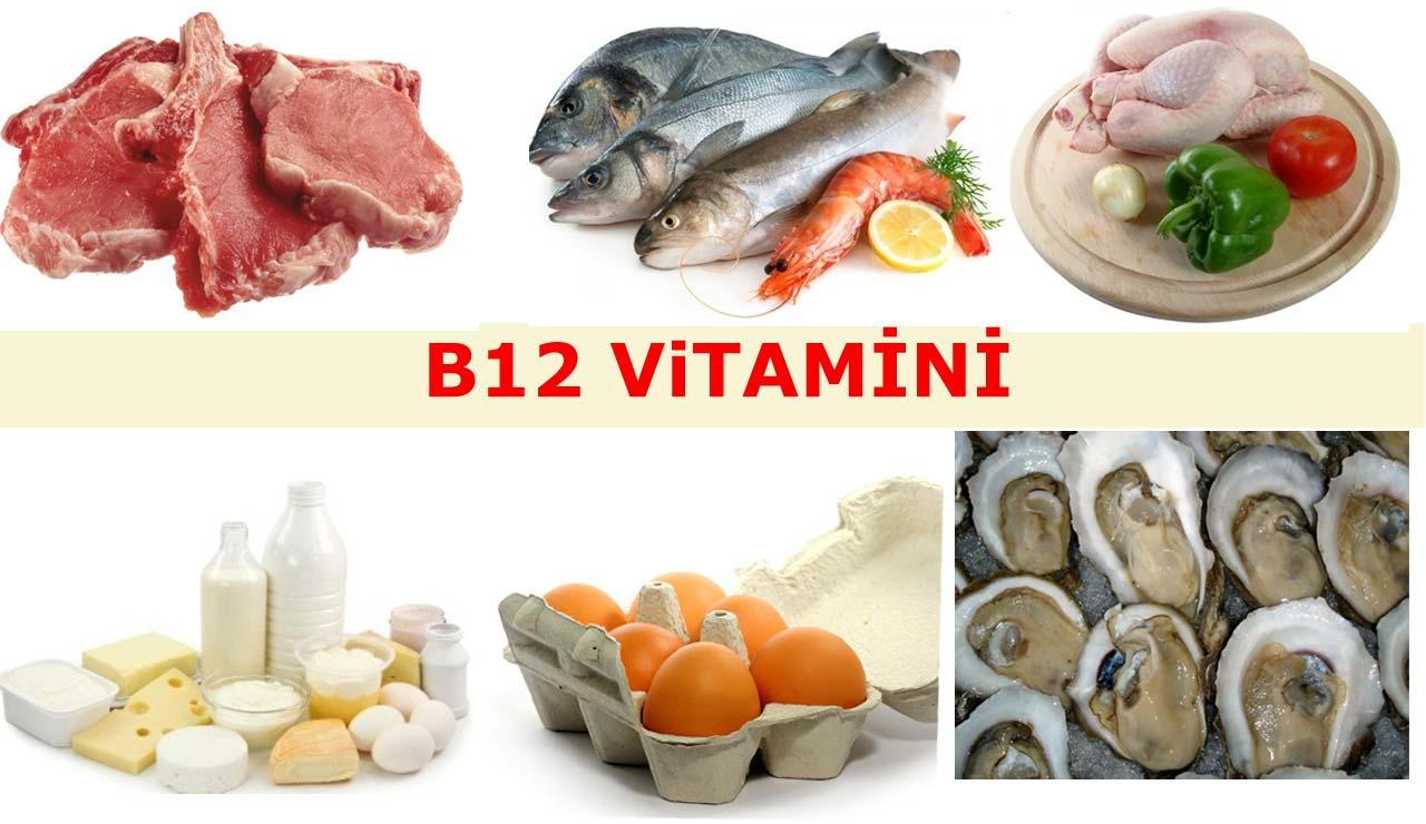 B12 vitamini eksikliği kansızlığa ve ciddi sağlık problemlerine yol açabilir