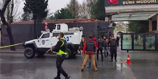 3 Mart İstanbul'da Polis Merkezine Saldırı Görüntüleri