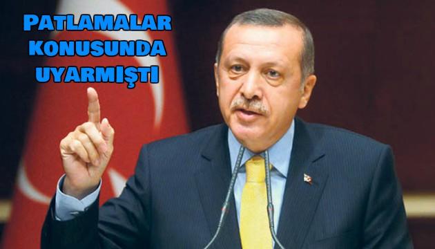 Recep Tayyip Erdoğan Uyarmıştı