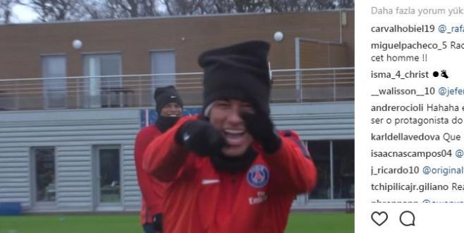 PSG Neymar'ın Antreman Görüntülerini Paylaştı