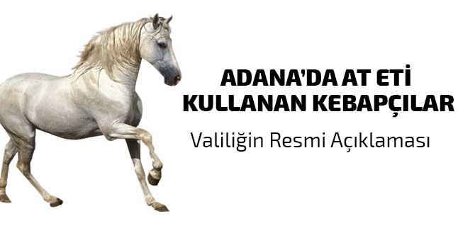 Adana'da tek tırnaklı hayvan eti kullanan kebapçılar listesi, Valilik resmi açıklaması